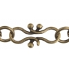 Chain Fancy 17x9mm Antique Brass